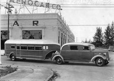 1936 Curtis Aerocar trailer and custom tow vehicle. The first 'fifth wheel'.