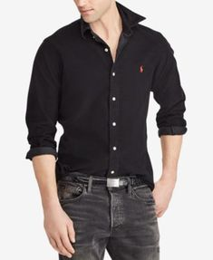 5b1af6a89da Polo Ralph Lauren Men s Big   Tall Classic-Fit Corduroy Shirt   Reviews -  Casual Button-Down Shirts - Men - Macy s