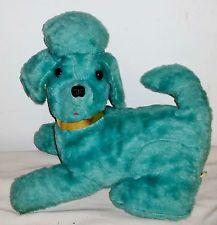 Blue / Turquoise Vintage 1960's Toy Plush Poodle Transistor Radio! Marksons Teddy Bear Dog, Bear Dogs, School Fun, Old School, 1960s Toys, Dinosaur Stuffed Animal, Stuffed Animals, Dark Teal, Vintage Green