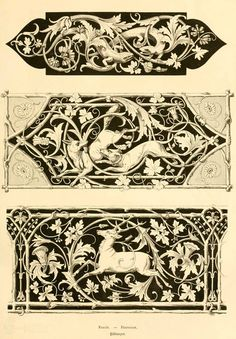 Sculpture Ornementale, Motif Art Deco, Ornament Drawing, Jugendstil Design, Motifs Animal, Grisaille, Pyrography, Wood Carving, Printmaking