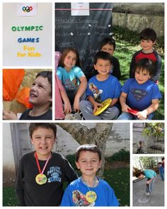 Olympic Games for the Kids from Inspired By Family Mag. So many cute ideas! #olympics #party #kidstuff