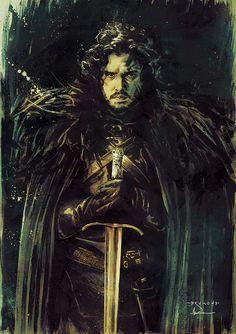 Game of Thrones - Jon Snow by Drumond Art___©___!!!!
