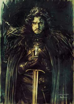 Game of Thrones - Jon Snow by Drumond Art *