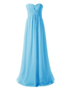 Dressystar_ø Ruched Chiffon Long Bridesmaid Dress Sweetheart Evening Gown >>> Tried it! Love it! Click the image. : Plus size dresses
