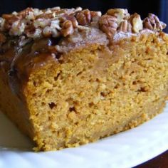 INGREDIENTS: 1 cup brown sugar 2 eggs cup vegetable oil cup water 1 ounce) pumpkin puree 1 cups plain flour 1 teaspoon baking so. Bread Recipes, Cooking Recipes, Yummy Recipes, Skinny Recipes, Quick Recipes, Sweet Recipes, Skinny Meals, Special Recipes, Potato Recipes