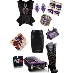 Purple passion outfit by sophia-housley on Polyvore featuring polyvore, fashion, style, Juicy Couture, Amrita Singh, claire's and Zoya