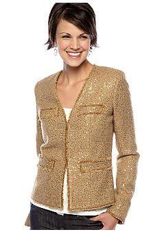 MICHAEL Michael Kors Sequin Tweed Jacket #belk