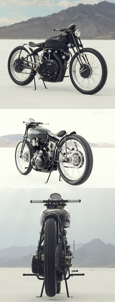 """""""The fucker's not much for turning, but it's pure hell on the straightaway"""" - Dr. Hunter S. Thompson on the Vincent Black Shadow (this is the Black Lightning but, oh well.)"""