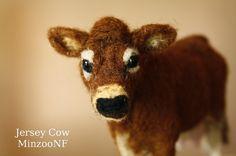 Cow Needle felting Jersey Cow Cow decor por MinzooNeedleFelting
