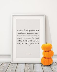 Downloadable Print - LIMITED FOR AUTUMN - Always Throw Spilled Salt... - halloween print, autumn, fall, quote print, Practical Magic quote