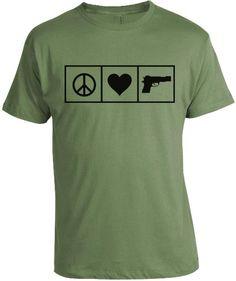 2ab6b1019 Peace Love and Guns T-Shirt Hunting Girls, Pro Gun, Peace And Love
