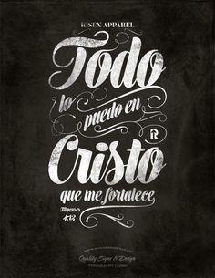 Todo lo puedo en Cristo | Typography by Tomasz Biernat, via Behance