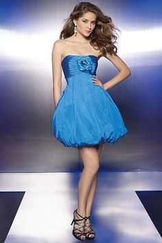 A Line Strapless Empire Sleeveless Applique Mini Party Dress