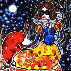Miroir, Miroir... Spiderman, Disney Characters, Fictional Characters, Snow White, Superhero, Disney Princess, Pretty, Art, Mirror