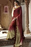 Angelic Red Colored Print With Embroidered Saree    More here:  http://atisundar.com/collections/new-this-week/products/angelic-red-colored-print-with-embroidered-saree