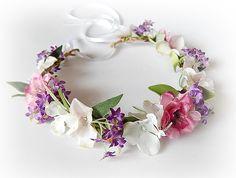 Adornos para el pelo y tocados - Corona de flores - hecho a mano por SajmonArt en DaWanda #boda #novia #novio #invitadas #invitados #bodasDIY #DaWanda #hechoamano #weddings #manualidades #bodashandmade #handmade