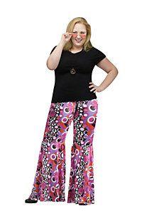 1d808067fbde1 Women s Plus Size Flower Child Bell Bottoms Costume