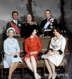 Royal Families from Norway and Denmark 1973