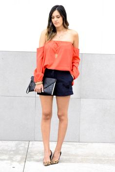 Red Off The Shoulder Top // Style The Girl