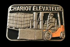Chariot Elevateurs French Forklift Operator Machine Workers Quality Belt Buckles #chariot #lift #liftoperator #forklift #forkliftdriver #forkliftoperator #chariotelevateur #beltbuckle #boucle #boucledeceinture