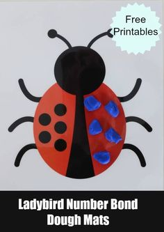 EYFS Maths - These free printable Ladybird number bonds modelling dough mats are a fun way for children to familiarise themselves with number facts. Maths Eyfs, In Kindergarten, Preschool Activities, Early Years Maths, Early Math, Teaching Numbers, Math Numbers, What The Ladybird Heard Activities, Number Bonds To 10