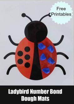 Ladybird Number Bonds Dough Mat #LearningIsFun