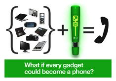 This could be interesting.  Transform your gadgets into a phone!