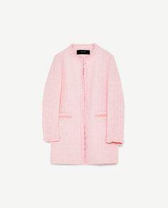 Image 8 of TEXTURED TWEED FROCK COAT from Zara