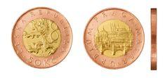 50 Kč Commemorative Coins, Old And New, Retro, Money, Personalized Items, Historia, Silver, Retro Illustration