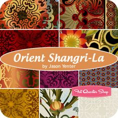 Orient Shangri-La Fat Quarter Bundle Jason Yenter for In The Beginning Fabrics
