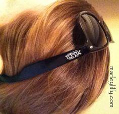 $36.99 Monogrammed Brown or Black Wayfarer Polarized Sunglasses