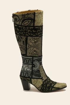 Suzani Zari patchwork Silver Gold 8001-3 | Jenny Boots de specialist voor de brede schacht