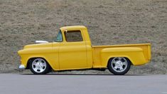 1955 Chevrolet 3100 at auction #2482764 - Hemmings Motor News New Chevrolet Trucks, Chevrolet 3100, Classic Chevrolet, Steel Bed, Yellow Interior, Vintage Air, Air Conditioning System, Classic Trucks, Custom Leather