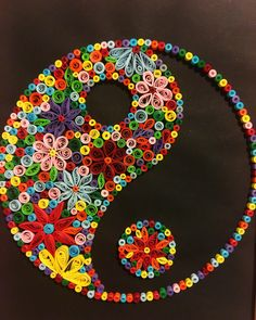 Maybe the theory that opposites attract is not just a myth - quilled Yin Yang Quilling Butterfly, Paper Quilling Flowers, Paper Quilling Cards, Quilling Work, Paper Quilling Patterns, Origami And Quilling, Quilled Paper Art, Quilling Jewelry, Quilling Paper Craft