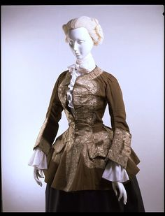 Gus's habit after her wedding was plum-colored wool with silver braid (trim) like this one. Riding habit jacket, wool with metal braid English. 18th Century Dress, 18th Century Costume, 18th Century Clothing, 18th Century Fashion, Historical Costume, Historical Clothing, Mega Fashion, Riding Habit, Riding Jacket
