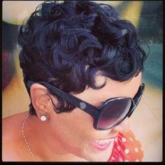 She has my hairstyle! Short Sassy Hair, Short Hair Cuts, Short Pixie, Curly Short, Deep Curly, Pixie Cuts, Straight Hair, Love Hair, Great Hair