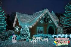 Image result for houses with christmas lights