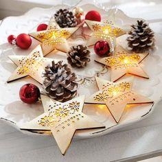 Lichterkette Holzsterne  für die Weihnachtszeit