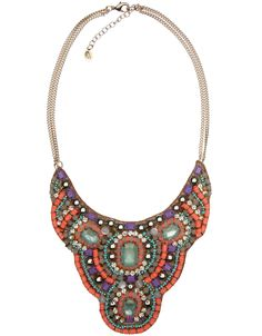 Cala D'or Embellished Collar Necklace | Multi | Accessorize