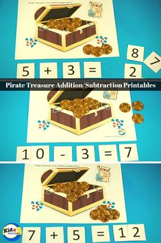 Pirate Treasure Math Printables: Addition & Subtraction