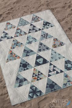 Introducing, Toes in the Sand - A Block of the Month Quilt | Jaybird Quiltsn- Quilted by Angela Walters