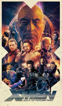 X Men Days Of Future Past production still poster artwork