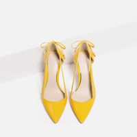 Image 3 of HIGH HEEL SHOES WITH BOW from Zara