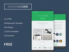 Minimal Flat Design & Code PSD Website - http://www.welovesolo.com/minimal-flat-design-code-psd-website/