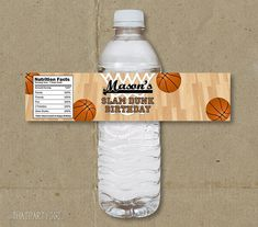 You will receive 1 digital file of the water bottle label shown. Digital file will be formatted as a jpeg and to print on 8.5X11 PAPER with 4 -