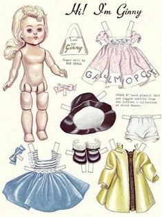 Magazine Dolls not my scans - Denise Bruce - Picasa Web Albums Doll Clothes Patterns, Doll Patterns, Paper Toys, Paper Crafts, Stylish Little Girls, Dear Mom, Picasa Web Albums, Vintage Paper Dolls, Old Paper