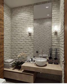 Modern Bathroom Design, Bathroom Interior Design, Interior Design Living Room, Oak Bathroom Furniture, Mini Bad, Modern Villa Design, Guest Toilet, Upstairs Bathrooms, Amazing Bathrooms