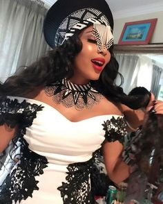 Isibaya actress, Linda Mtoba recently wed her long time beau, Steven Meyer. Take a look inside the gorgeous traditional wedding. Wedding Dresses South Africa, African Wedding Attire, African Attire, Zulu Traditional Wedding Dresses, South African Traditional Dresses, Zulu Traditional Attire, Traditional Ideas, African Print Dresses, African Fashion Dresses