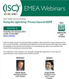 Webinar on Privacy