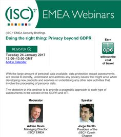 Webinar on Privacy